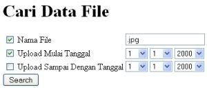 Script PHP Cari File
