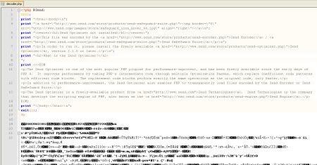 PHP decoder