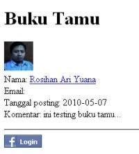 Buku Tamu dengan Facebook