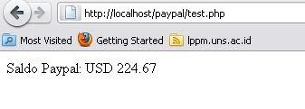 Paypal API Cek Balance